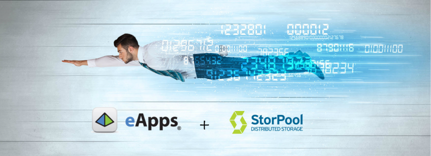 eApps and StorPool storage