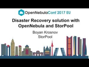 Disaster Recovery Solution with OpenNebula and StorPool