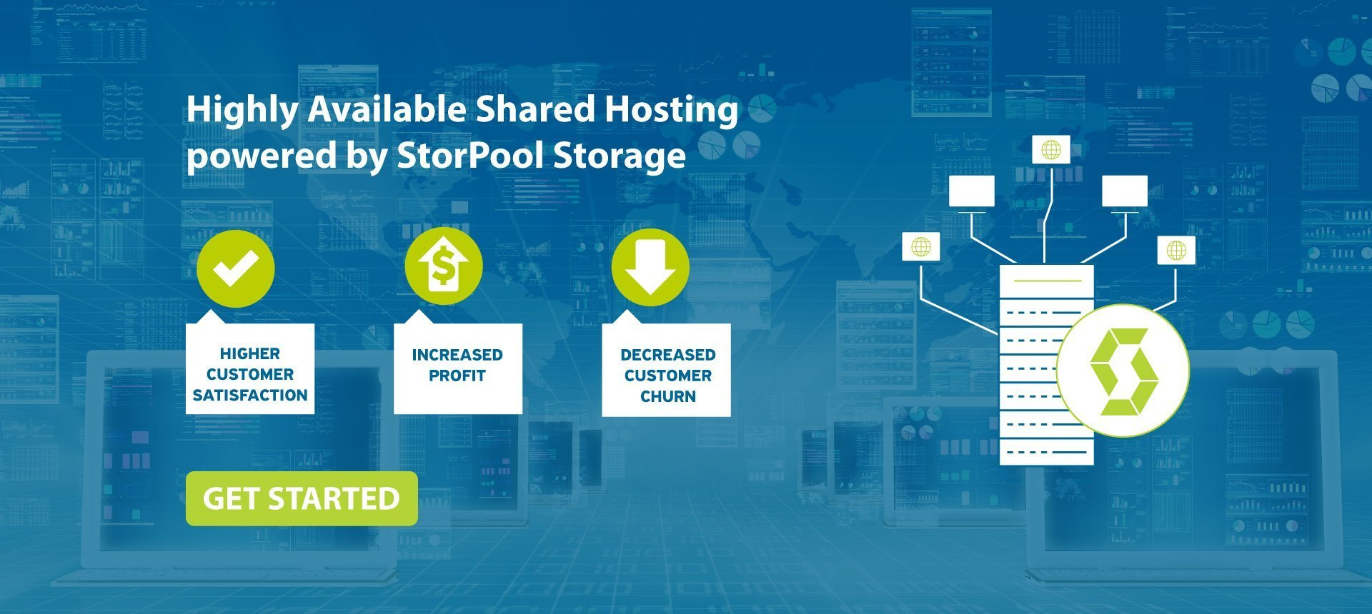 Highly Available Storage Solution for Hosting Providers